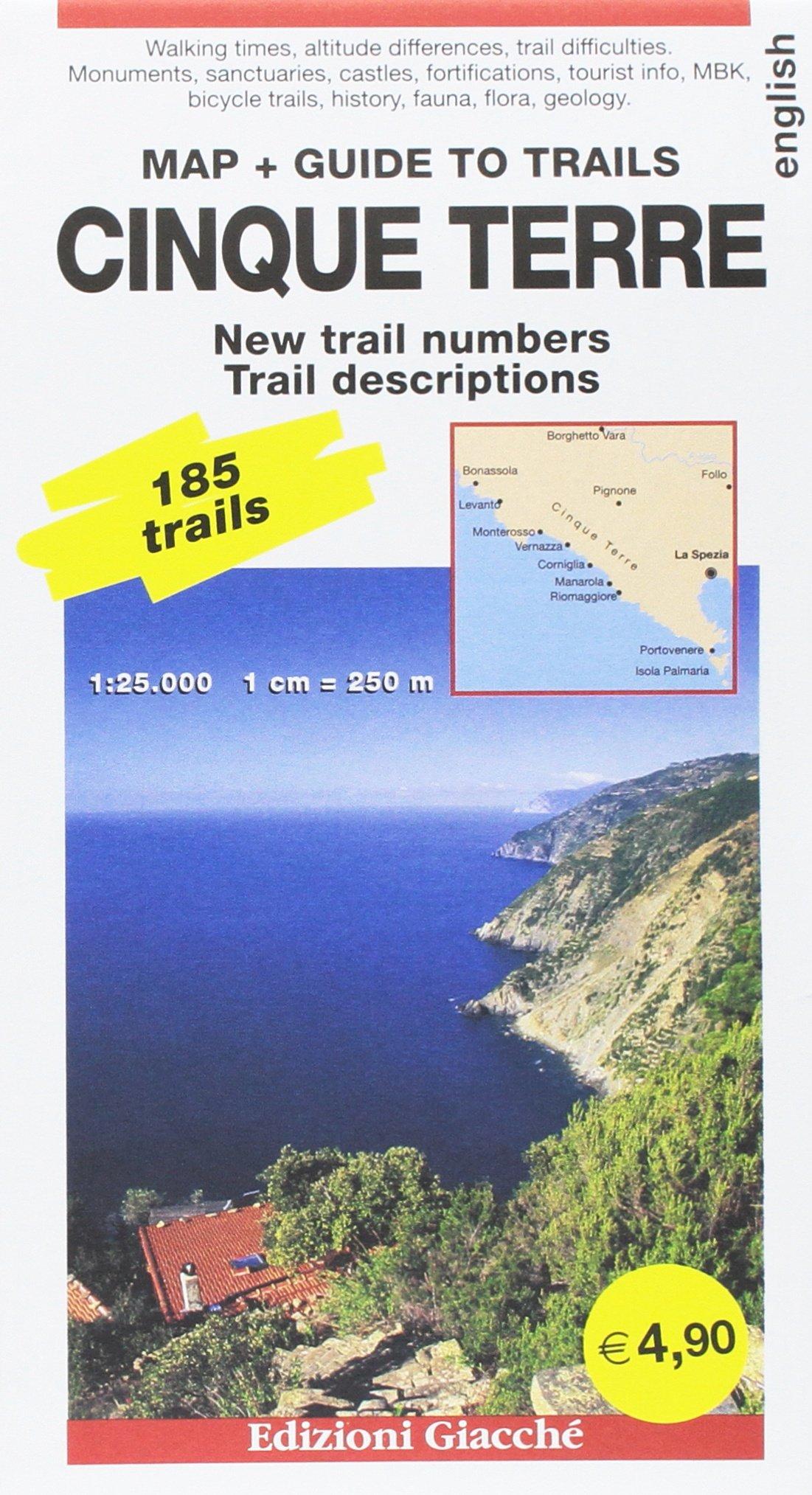 Cinque Terre map + Guide to trails. 185 trails 1:25.000 ... on san gimignano map, aeolian islands map, siena map, la spezia map, liguria map, manarola map, vernazza map, venice map, monterosso al mare, italy map, florence map, italian riviera map, san gimignano, lucca map, pisa map, la spezia, capri map, amalfi coast map, tuscany map, genoa map, italian riviera, positano map, portofino map, pietrasanta map,