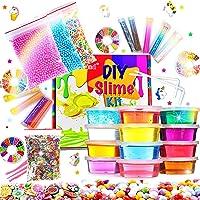 Fluffy Slime Kit de 12 Colores Crystal Slime
