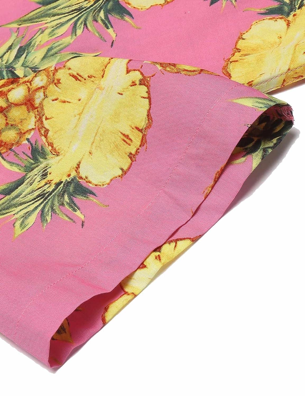 bc86163bc1ad COOFANDY Mens Pineapple Print Hawaiian Long Sleeve Button Down Shirt ...