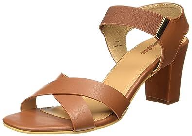 e3616eb18df9 BATA Women s Block Mule Tan Fashion Sandals-6 UK India (39 EU ...