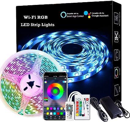 16FT 300 LED bluetooth APP Remotes 3528//5050 SMD RGB Waterproof TV Strip Lights