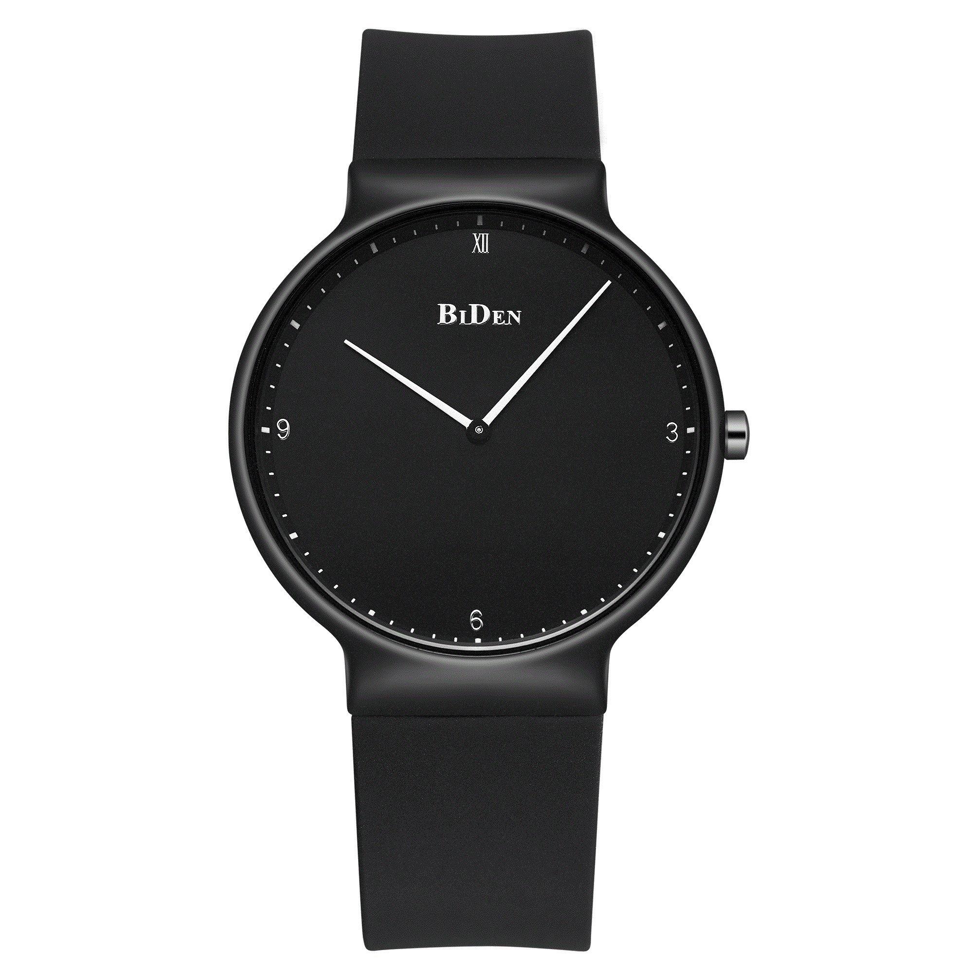 Womens Watches,Lady Simple Fashion Design Casual Business Dress Analogue Quartz Silicone Wrist Watch (Black)