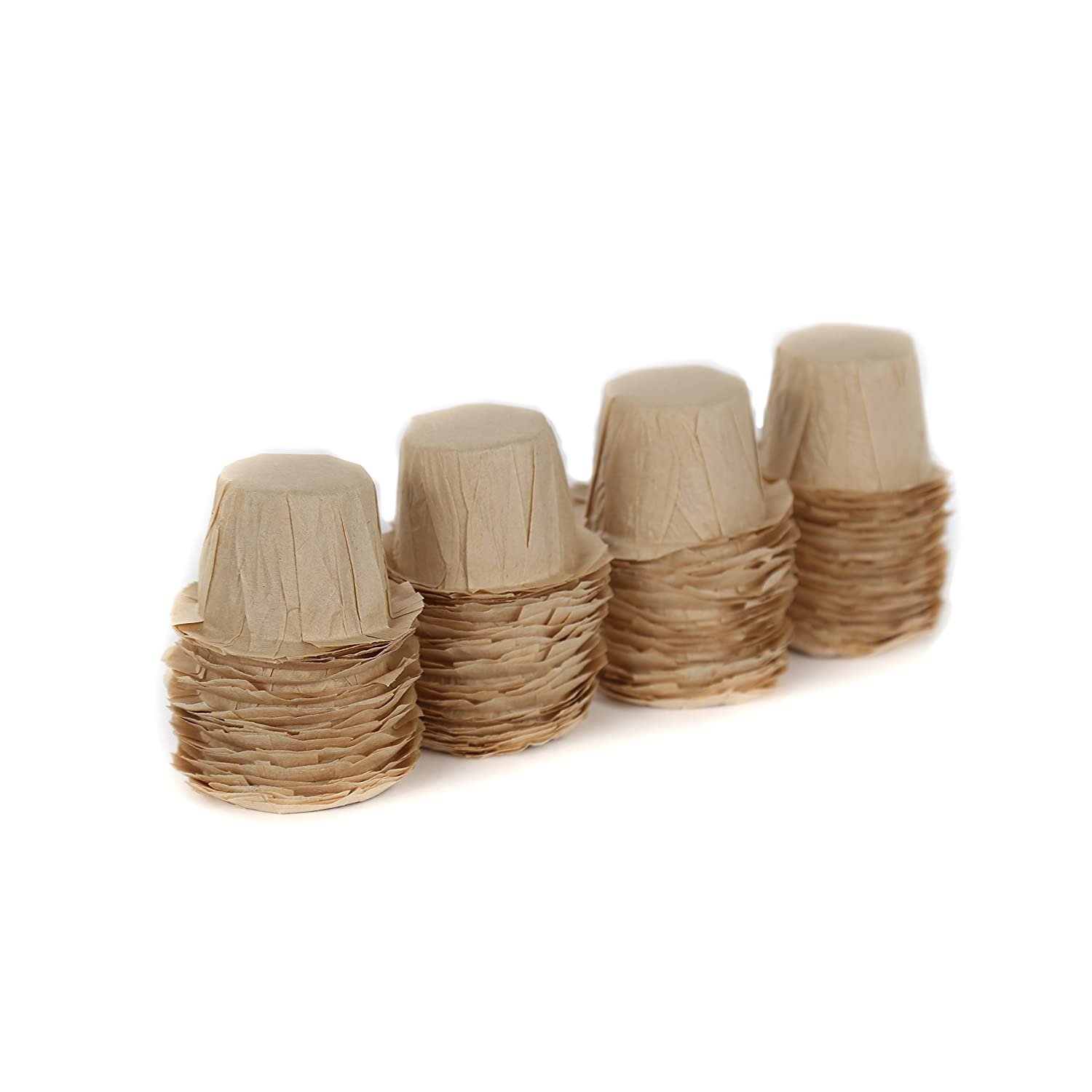 100 Disposable Natural Brown Coffee Filter Paper for Reusable Single Serve Keurig Brewer 1.0 and 2.0 - Refills for Reusable K-Cups - Marume Mie Cup MF-NB100