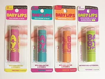 Maybelline Baby Lips Moisturizing Lip Balm SPF 20, Cherry Me 0.15 oz (Pack of 4) (6 Pack) ITS SKIN Power10 Formula LI Effector