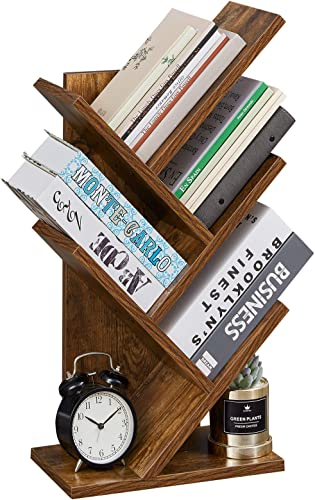 SUPERJARE Tree Bookshelf