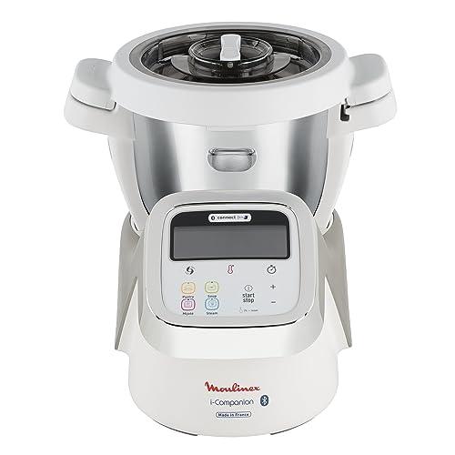 Moulinex i-Companion HF900110 - Robot de cocina Bluetooth 13 programas y 6 accesorios capacidad