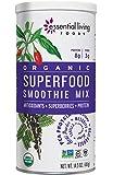 Essential Living Foods Organic Superfood Smoothie Mix, With Mesquite, Lucuma, Pea and Hemp Protein, Acai and Goji Berry Powder, Vegan, Non-GMO, Gluten Free, Kosher, 14.5 Ounce Tin