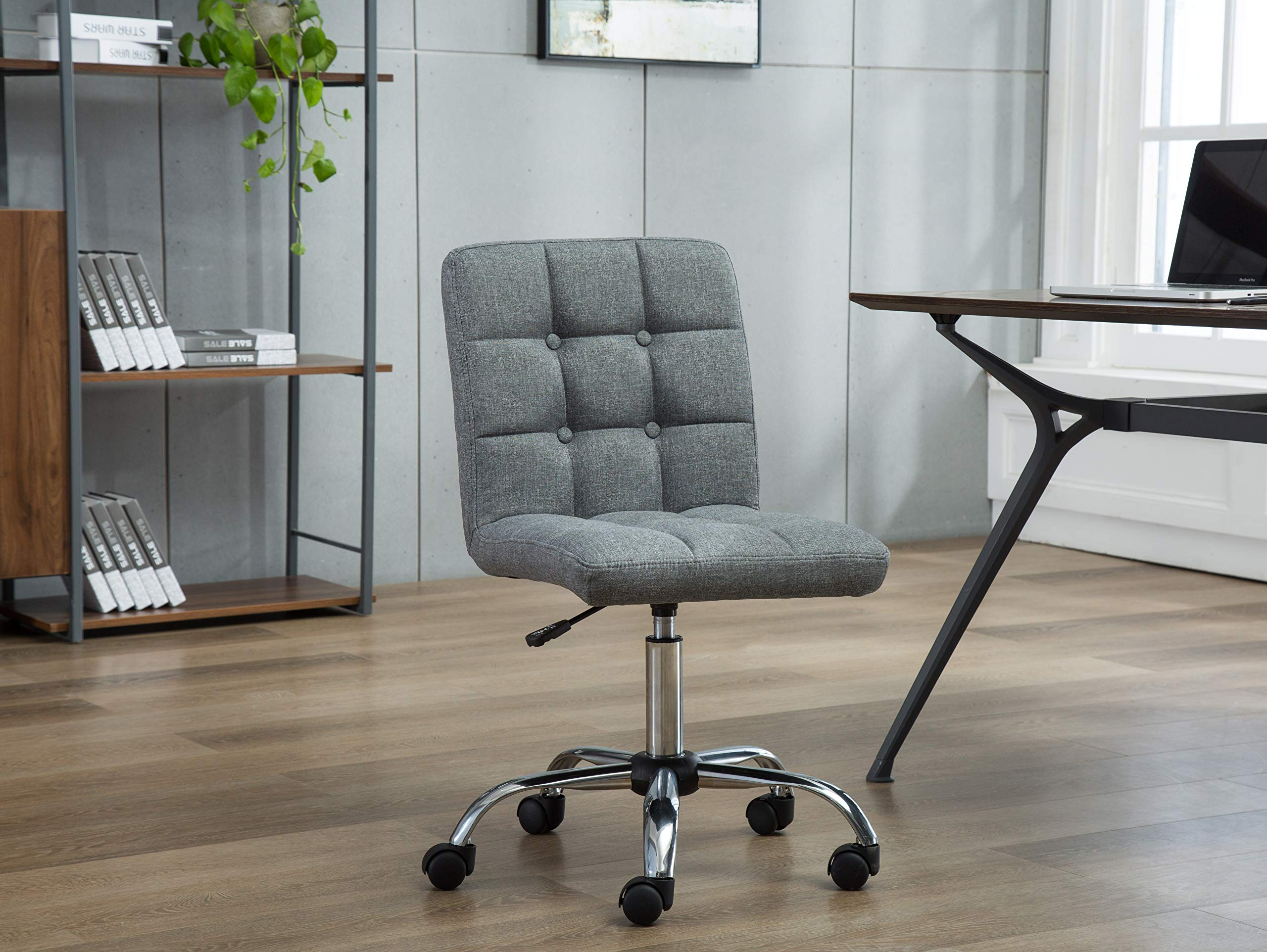 Porthos Home EFC001A Gry Parker Office Chair, One Size, Grey