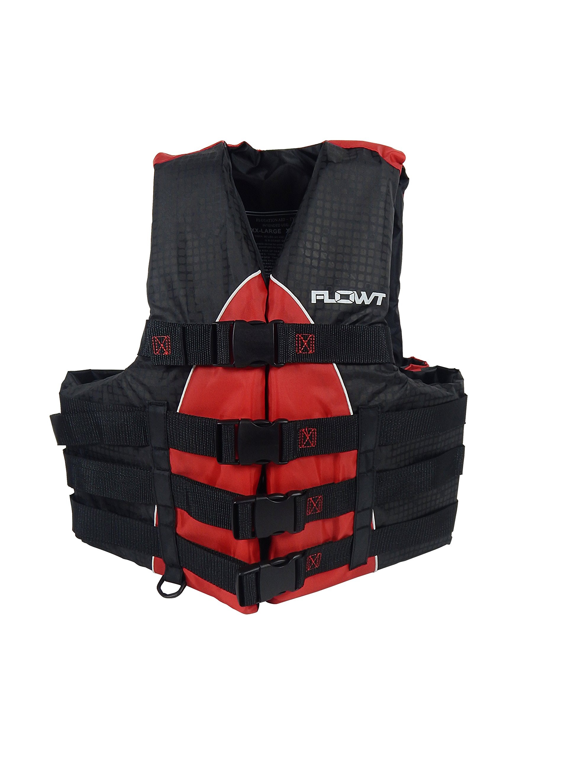Flowt 40402-2-2X/3X Extreme Sport Life Vest, Type III PFD, Closed Sides, Red, 2X Large / 3X Large, Fits chest sizes 50'' - 60'' by Flowt
