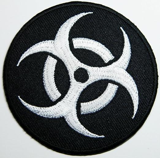 Biohazard Symbol Patch Set 3 Iron On Embroidered Patches Sport Freizeit