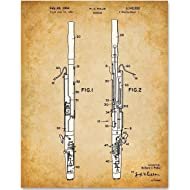 Bassoon Musical Instrument Art - 11x14 Unframed Patent Print - Great Gift for Bassoon Players