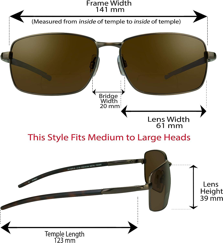 proSPORT Polarized Bifocal Sunglasses Men Women Fishing Anti Glare Wrap