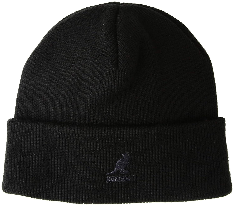 e793906b97124 Kangol Men's Acrylic Pull-ON Beanie HAT, Black/Black, 1SFM at Amazon Men's  Clothing store: