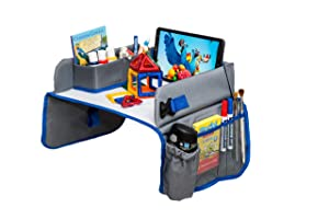 ADVO Kids Travel Tray Car Seat Activity and Play Tray Organizer for Children and Toddlers Lap Desk with Tablet Phone Holder Waterproof and Foldable