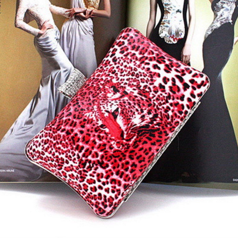 MTFS Damen Leopardenprint Strass Tasche Handtasche Handtasche Handtasche Party Clutch Bag Hochzeit Abend Kettentasche Umhängetaschen B07F6YJT13 Clutches Elegante und stabile Verpackung c88e5d