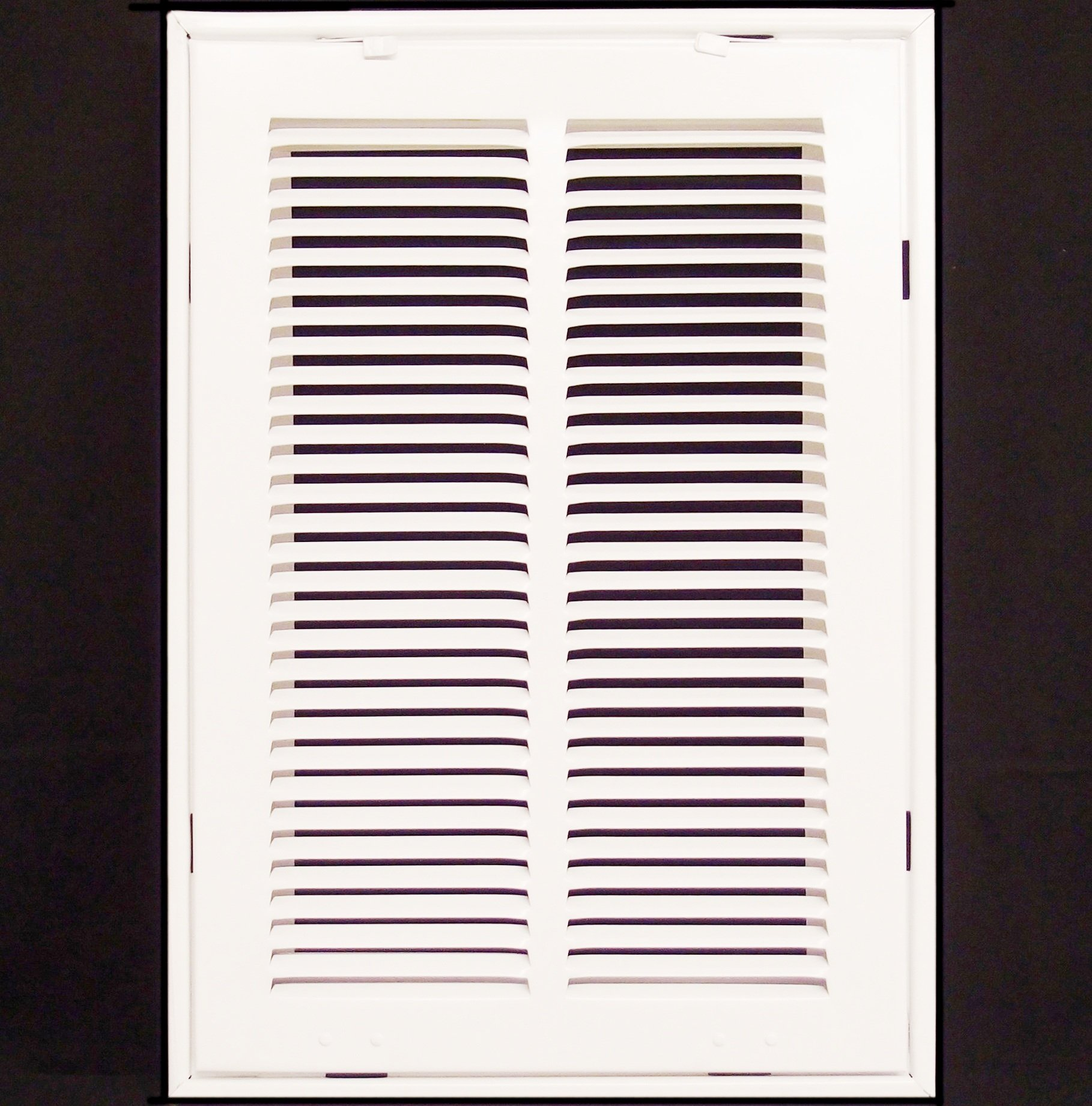 12'' X 18 Steel Return Air Filter Grille for 1'' Filter - Removable Face/Door - HVAC DUCT COVER - Flat Stamped Face - White [Outer Dimensions: 14.5''w X 20.5''h]