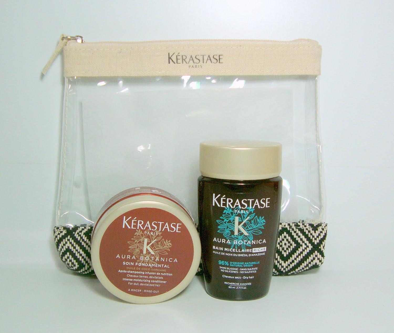 Kerastase Kit da Viaggio Aura Botanica Bain Micellaire Riche 80ml + Masque 75ml + Omaggio Pochette