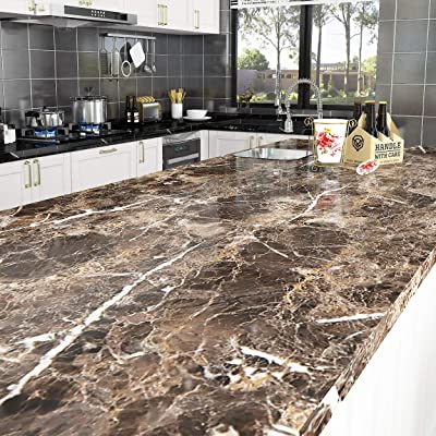Buy Livelynine 197 X 36 Inch Wide Contact Paper For Countertops Waterproof Kitchen Countertop Peel And Stick Wallpaper Marble Kitchen Island Table Top Desk Cover Furniture Counters Removable Self Adhesive Online In