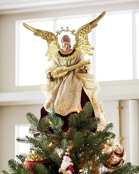 Angel Christmas Tree Topper.Balsam Hill Noel Angel Christmas Tree Topper