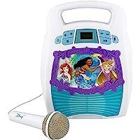 Disney Princess Bluetooth Portable MP3 Karaoke Machine Player Light Show Store Hours of Music Built in Memory Sing Along…