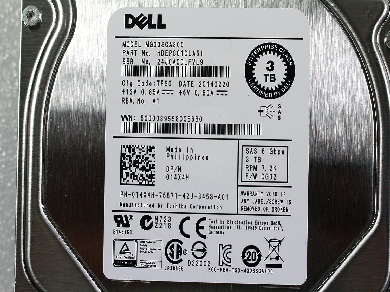 """New OEM Toshiba MG03SCA300 3TB SAS2 6Gb/s 7200rpm 64MB 3.5"""" Hard Drive 14X4H"""