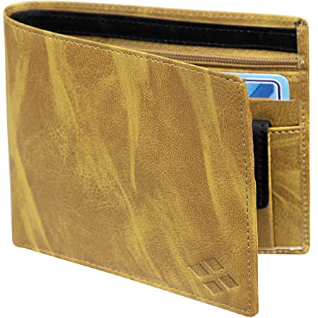 LUXIQE Men Yellow Artificial Leather Wallet  WL1001YL