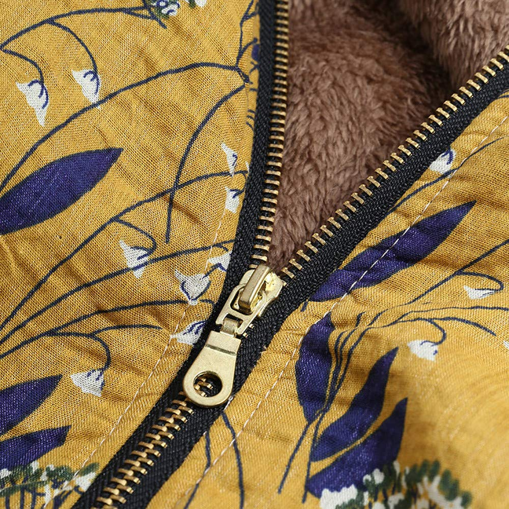 Womens Winter Coats, KIKOY Faux Fur Wool Floral Printed Vintage Oversize Jackets at Amazon Womens Coats Shop