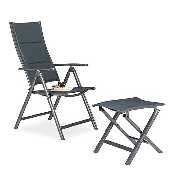2 piezas sillas de jardín y taburete silla plegable Set ...