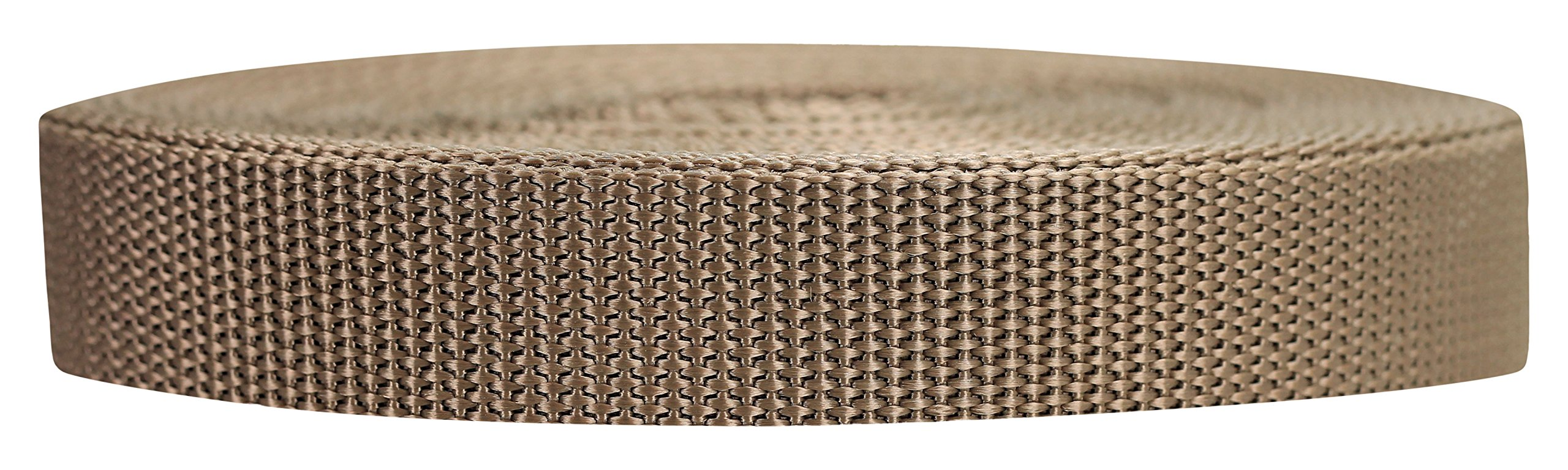 Strapworks Heavyweight Polypropylene Webbing - Heavy Duty Poly Strapping for Outdoor DIY Gear Repair, 3/4 Inch x 25 Yards, Tan by Strapworks