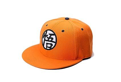 378e780cf JJMG NEW Dragon Ball Anime Snapback Cap - Unisex Goku Orange Hip Hop  Fashion Flat Bill Embroidered Hat