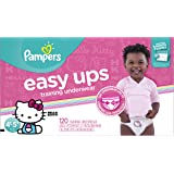 Pampers Easy Ups Training Pants Pull On Disposable Diapers for Girls Size 6 (4T-5T), 120 Count, ONE MONTH SUPPLY