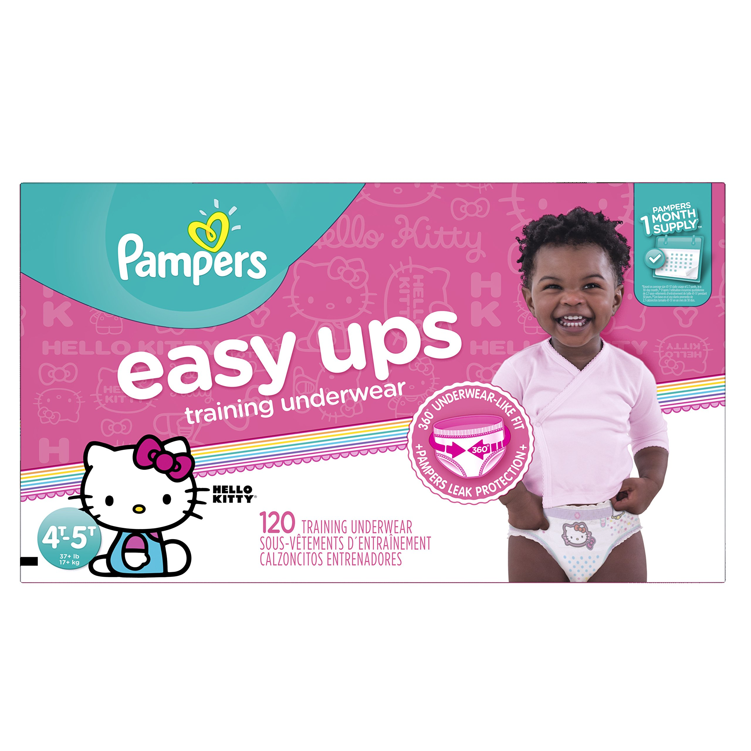 Pampers Easy Ups Training Pants Pull On Disposable Diapers for Girls Size 6 (4T-