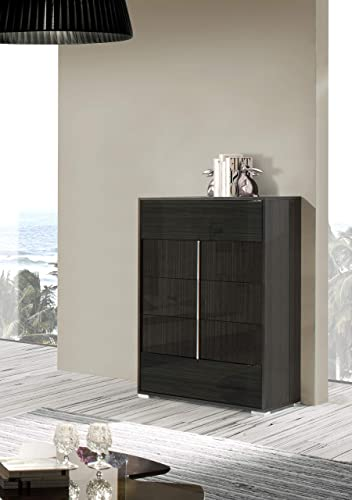 Limari Home Orry Collection Modern Style Bedroom Italian Lacquer Finished Chest