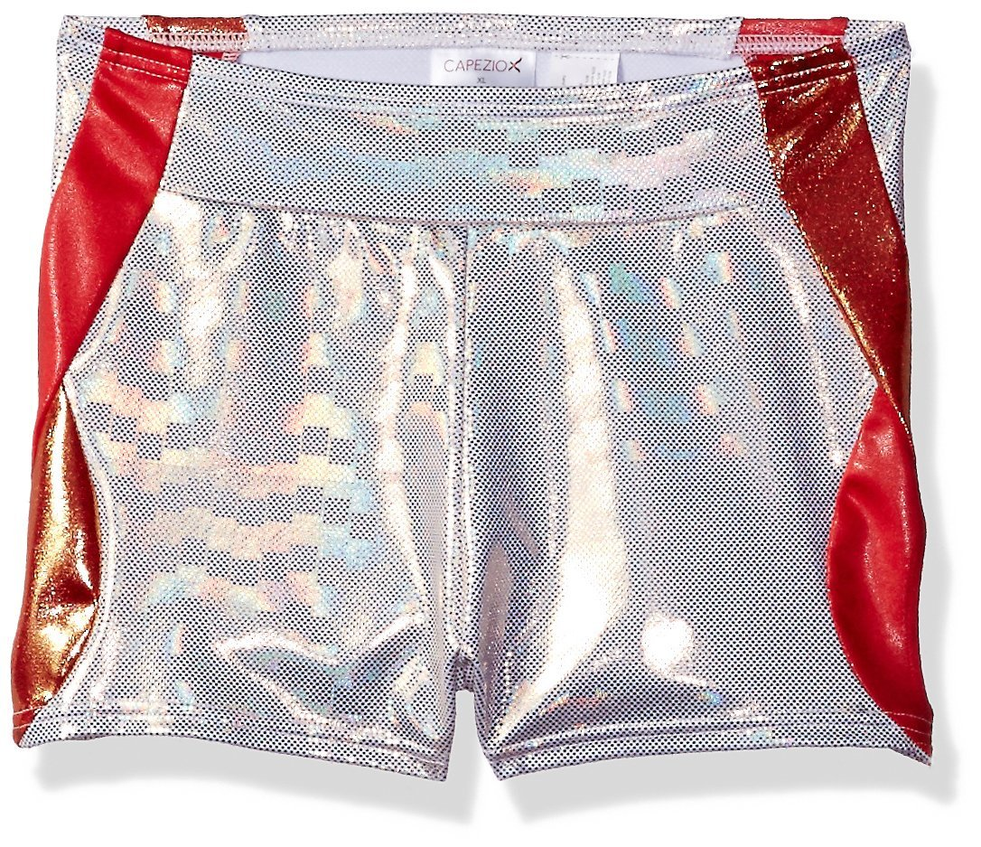 Capezio Little Girls' Gymnastic Double Layout Short, Sunburst Snake, Small by Capezio