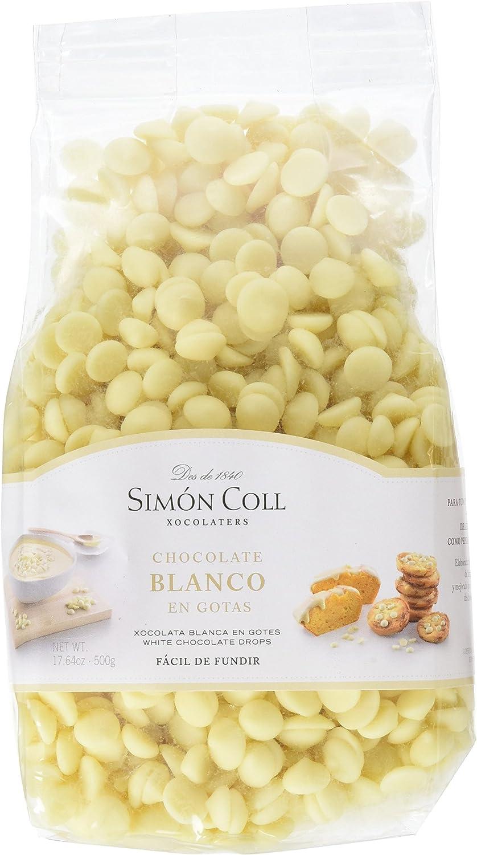 Chocolates Simón Coll - Gotas de Chocolate Blanco, 500 g