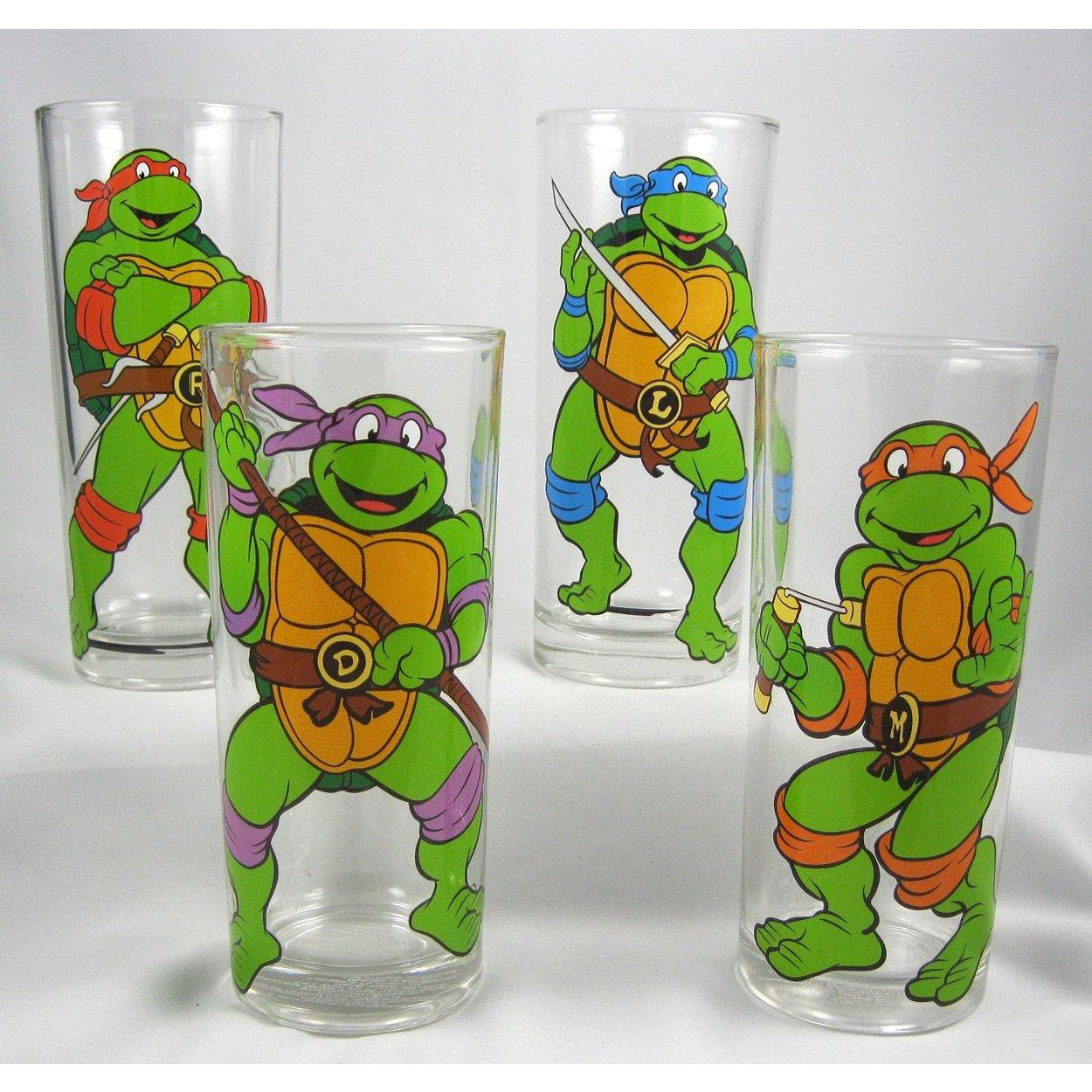 Amazon.com: Teenage Mutant Ninja Turtles Posed 4-Pack Vaso ...