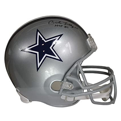 Bob Lilly Autographed Dallas Cowboys Silver Riddell Speed Replica Full Size  Helmet w Inscription JSA c6fa6e74f