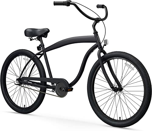 sixthreezero Men s In The Barrel Beach Cruiser Bicycle, 26 Wheels 18 Extended Frame
