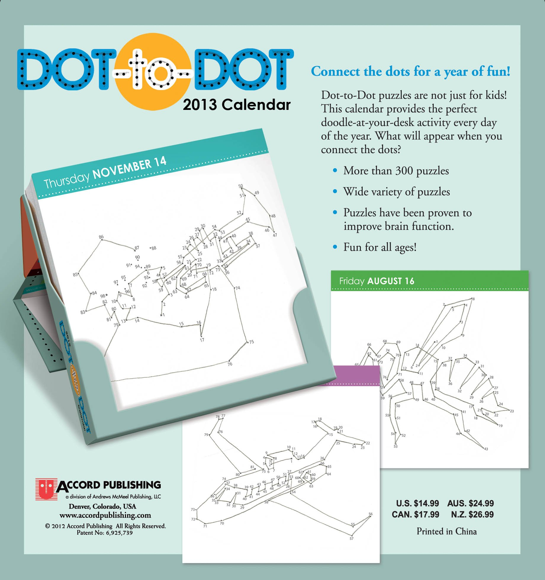 Dot-To-Dot 2013 Day-to-Day Calendar: Accord Publishing ...