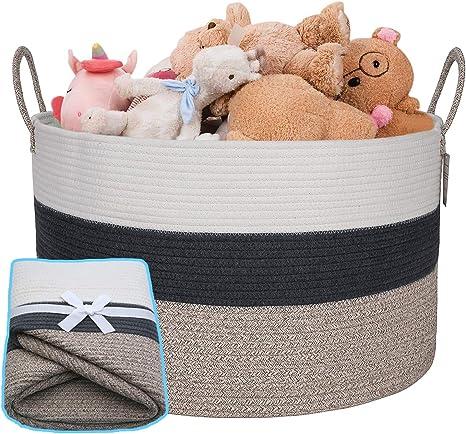 Storage Hamper Basket Brown Paper Rope with Lid Set of 4 Fast /& Secure Delivery