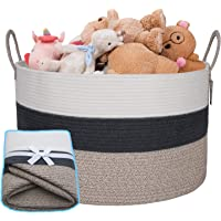 Extra Large Cotton Rope Basket Woven Basket Storage Baby Laundry Hamper with Handles for Nursery Laundry, Clothes, Toys…