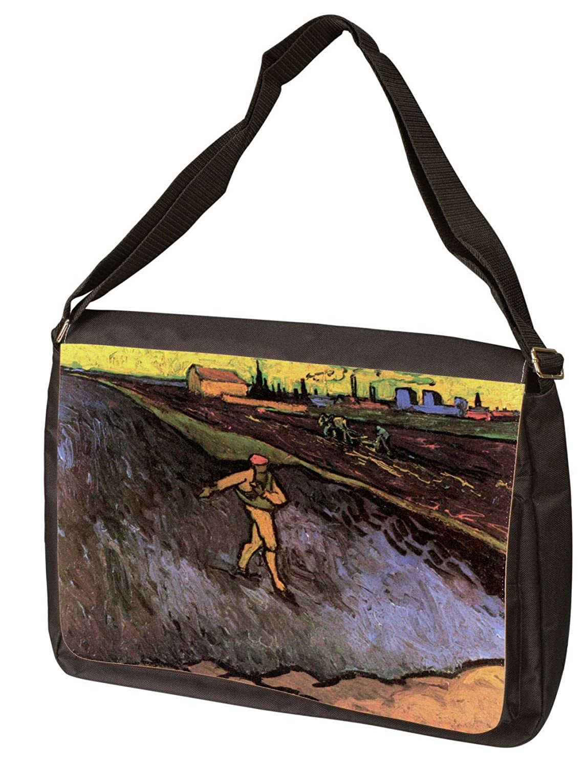 The Sower With The Outskirts Of Arles In The Background By Vincent Van Gogh Laptop Shoulder Bag
