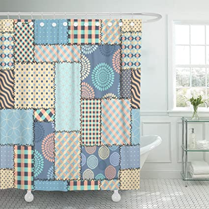 Amazon Emvency Fabric Shower Curtain Curtains With Hooks