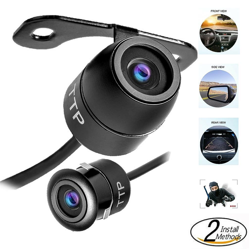 TOPTIERPRO Hidden Mini Camera TTP-C12B Multi-functional Car Rear View / Front View / Side View Backup Camera & Spy Camera