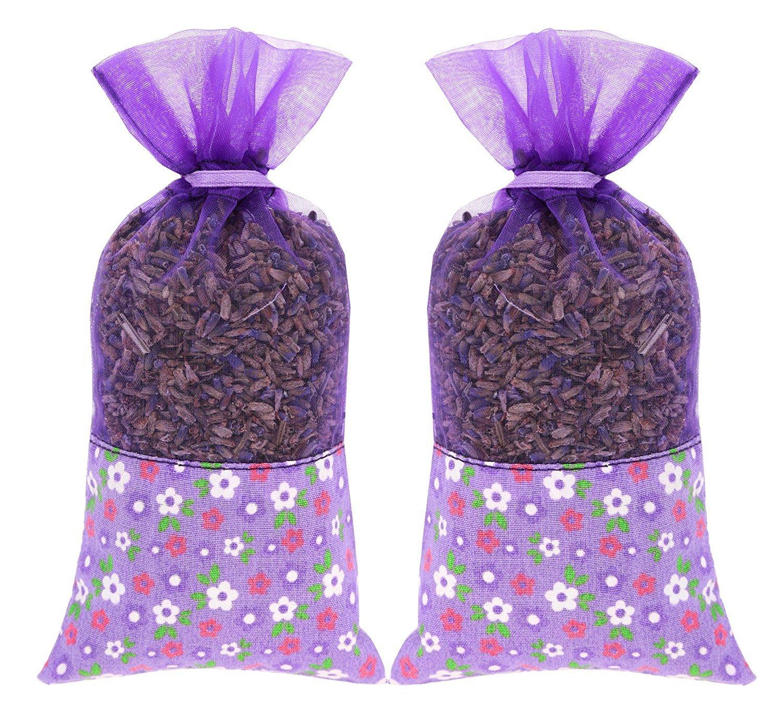 2-packs da 20 grams ac-045 100% all Natural French profumo di lavanda Moth borse per armadi, armadi, cassetti, guardaroba - casa e ufficio decorativo The Ambient Collection