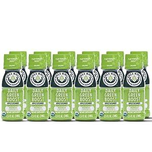 Kuli Kuli Green Juice Wellness Shots - Green Drinks Superfood including Moringa, Spirulina, Spinach, Chlorella, & Wheatgrass, Added Caffeine Green Tea Bonus, Apple Cucumber, 2.5 FL Oz., 12 Pack