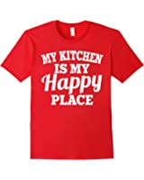 My Kitchen Is My Happy Place Shirt: Funny Chef Cooking Gift