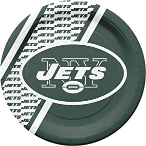 Duck House NFL New York Jets Disposable Paper Plates