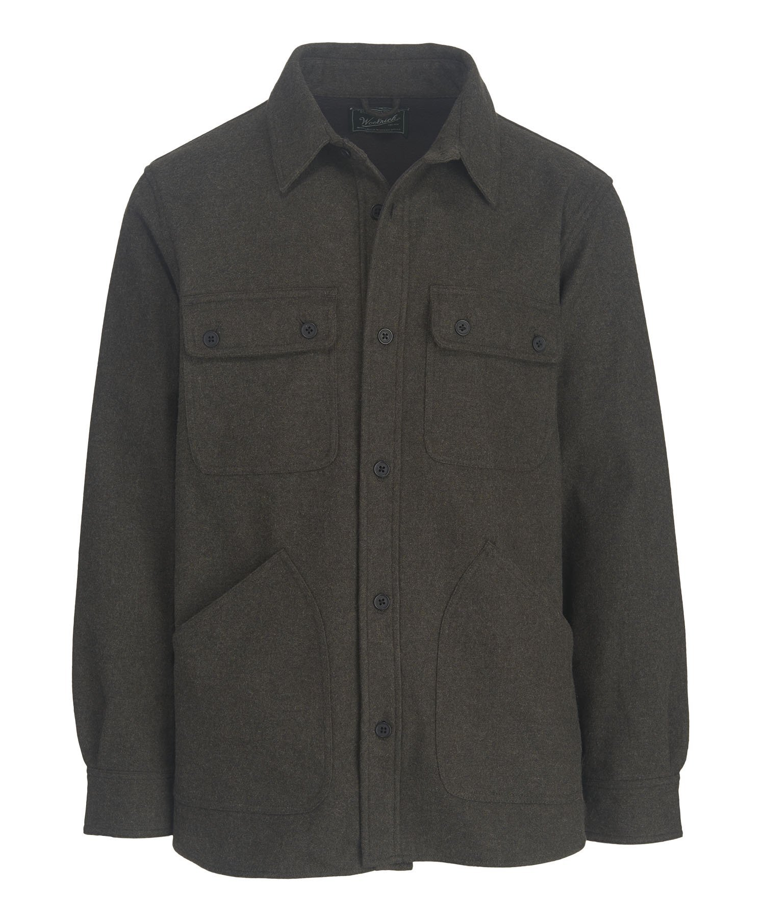 Woolrich Men's West Ridge Shirt Jac, Black Heather, XX-Large