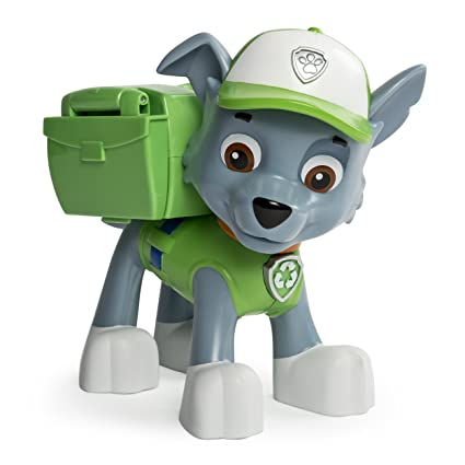 b68a31bcf87 Amazon.com: Paw Patrol Big Action Pup Toy, Rocky: Toys & Games